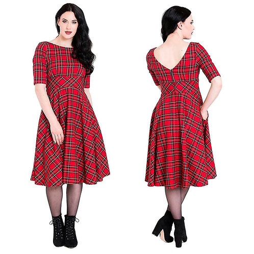 Hell Bunny Red Tartan Dress