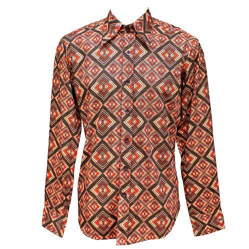 Chenaski Orange & Brown Rhombus Shirt