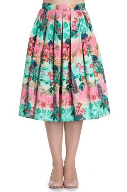 Hell Bunny Peacock Skirt