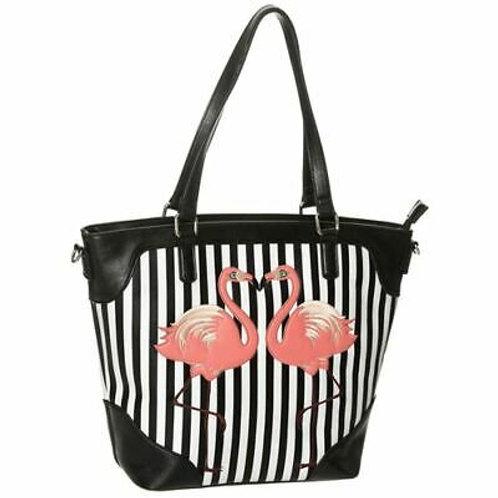 Dancing Days Stripe Flamingo Bag