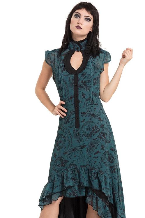 Jawbreaker Teal Goth Dress
