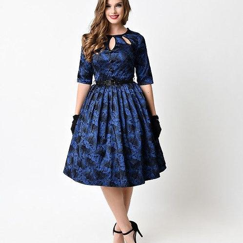 Voodoo Vixen Blue Heron Dress