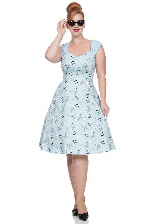 Voodoo Vixen Aubrey Dog Print Dress
