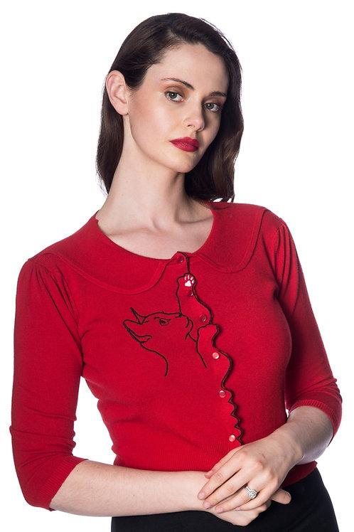 Banned Retro Red Cat Cardigan