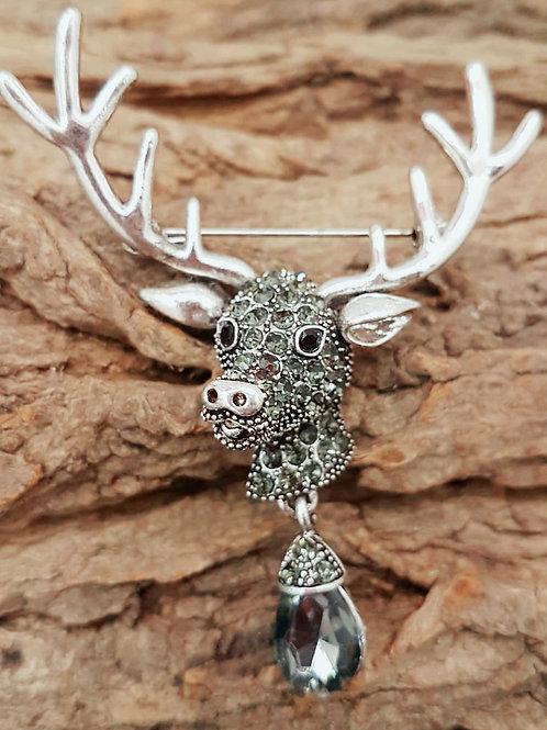 Silver Colour Stag Head