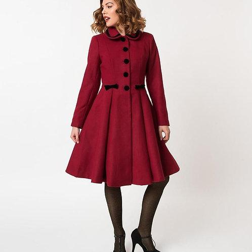 Hell Bunny Red Olivia Coat