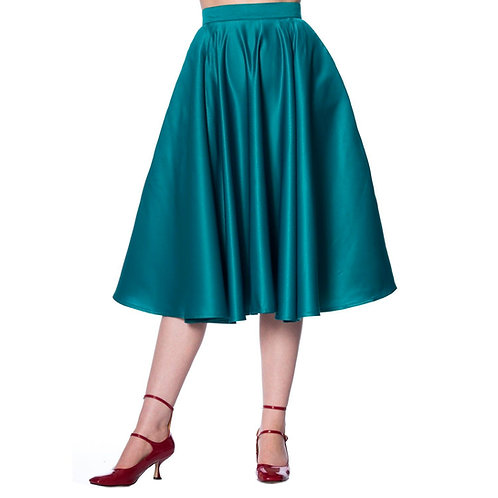 Banned Retro 1950's Teal High Waisted Skirt
