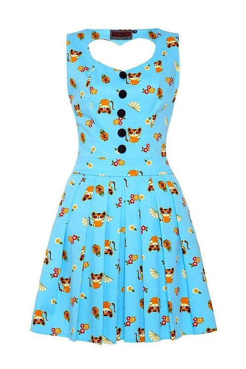 Voodoo Vixen Oriental Cat & Fan Dress