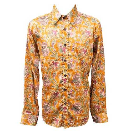 Chenaski 70's Mustard Paisley Shirt