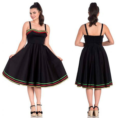 Marianne Mexican Inspired Dress by Hell Bunny