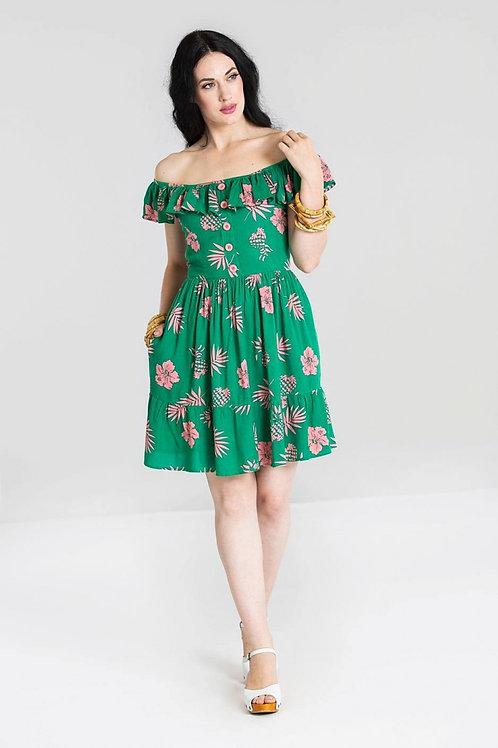 Hell Bunny Pineapple Mini Dress