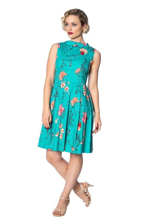 Banned Retro Peacock Baroque Fit & Flare Dress