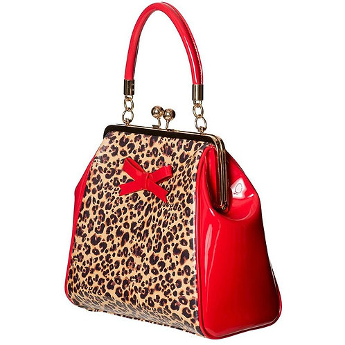 Dancing Days Money Honey Leopard Print Bow Bag