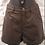 Thumbnail: Firetrap Ladies Brown Wax Effect Shorts