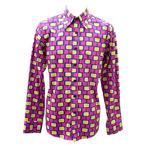 Chenaski 70's Pink & Yellow Screen Shirt
