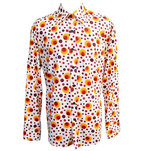 Chenaski 70s Orange Eyeball Shirt