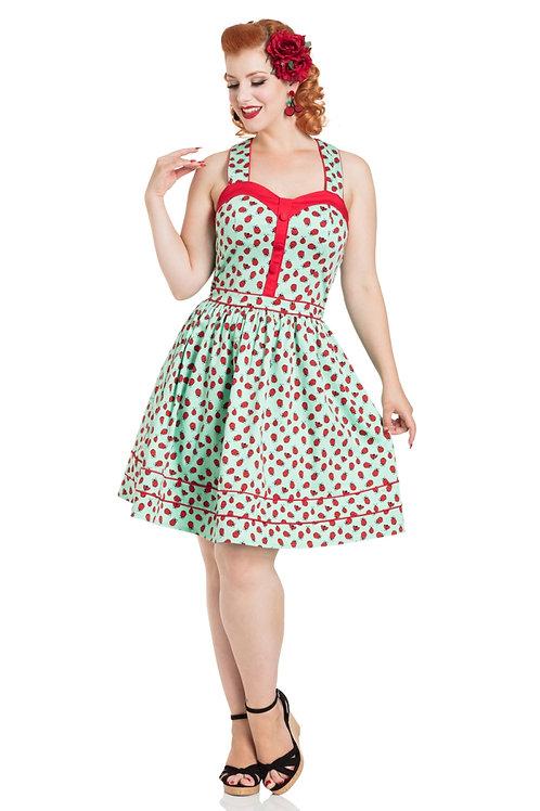 Voodoo Vixen Dotty Ladybird Flared Dress