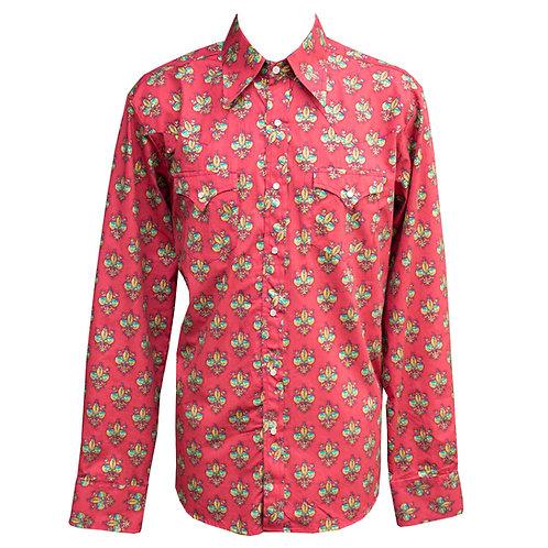 Chenaski 70's Cowboy Lily Shirt Bordeaux
