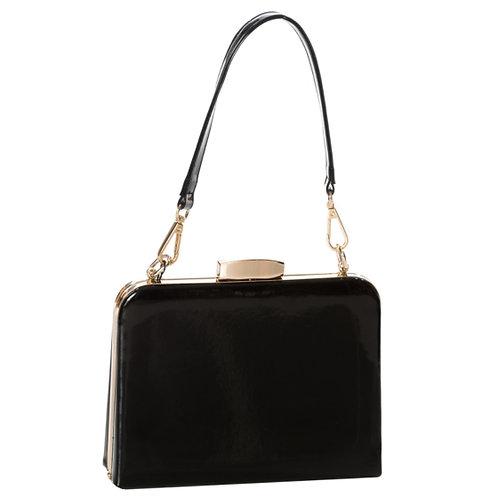 Dancing Days Black Mildred Patent Bag