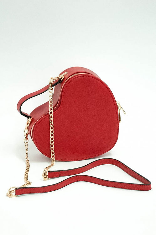 Voodoo Vixen Juliette Red Heart Bag