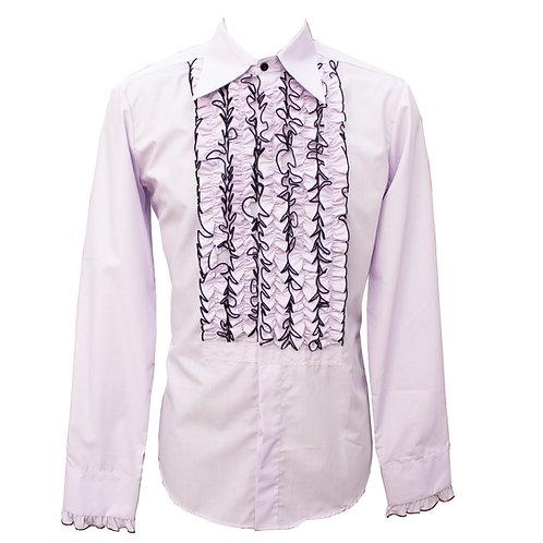 Chenaski 70's Frill Shirt Lilac