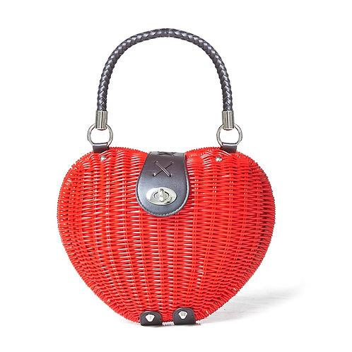 Banned Retro Nicki Red Heart Bag
