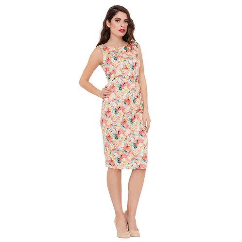 Voodoo Vixen Anastasia Floral Wiggle Dress