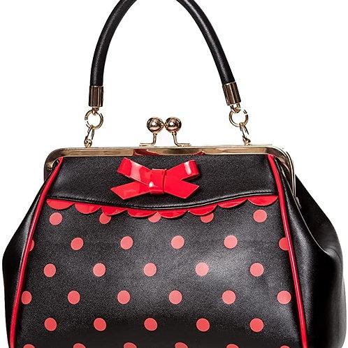 Banned Retro Black/Red Polka Handbag