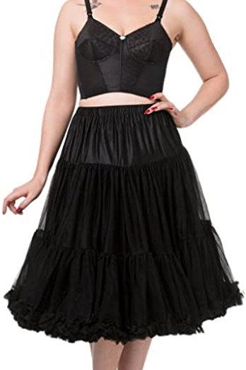 Banned Retro Black Petticoat