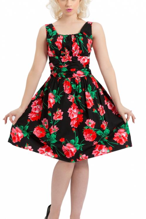 Voodoo Vixen Finley Black Floral Dress