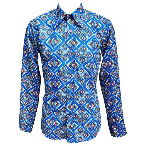 Chenaski Blue Rhombus Shirt