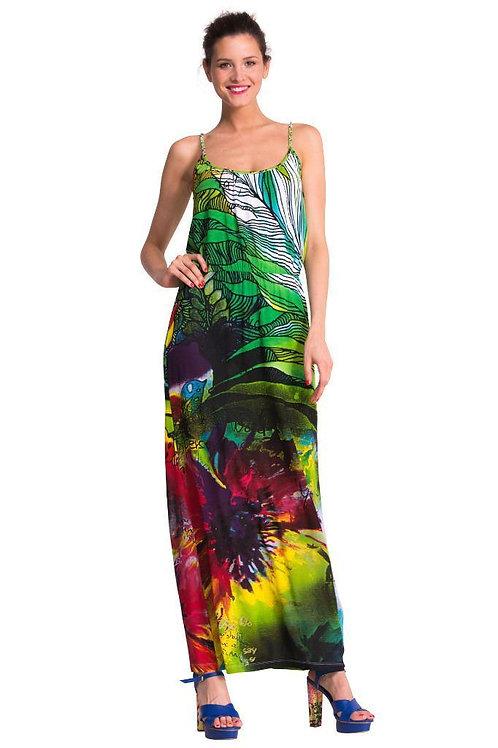Desigual Sahara Green Maxi Dress