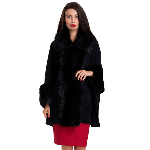 Agatha Faux Fur Cape by Voodoo Vixen