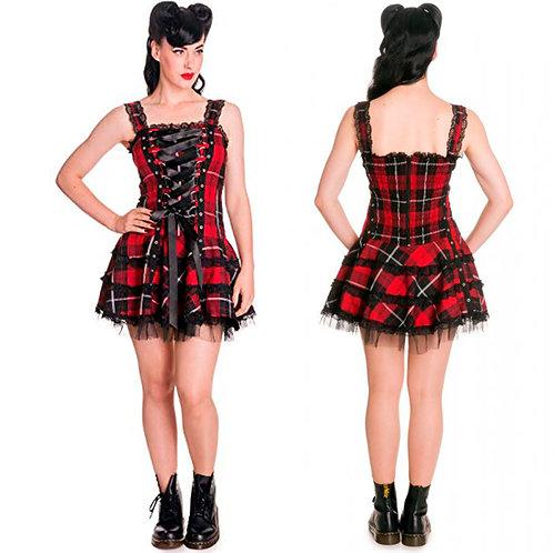 Harley Tartan Dress Hell Bunny