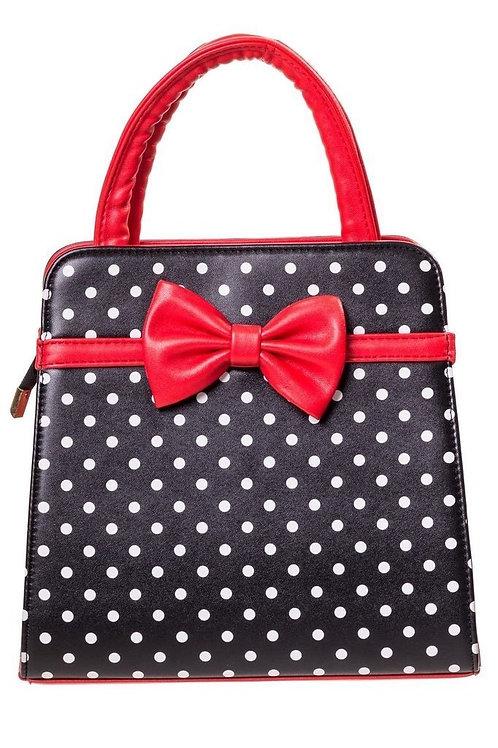Banned Retro Carla Black/Red Handbag