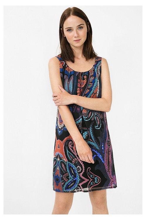 Desigual Stylish 2 Layer Sleeveless Dress