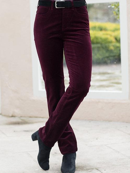 Amazing Woman Burgundy Velvet Trousers