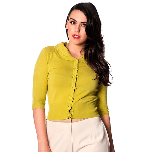 Banned Retro April Bow Lime Cardigan