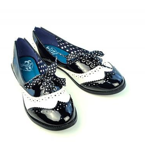 Dancing Days Milana Black Brogue Shoes