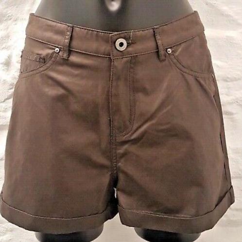 Firetrap Ladies Brown Wax Effect Shorts