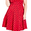 Thumbnail: Voodoo Vixen Eliza Red Polka Dress