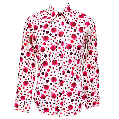 Chenaski Dots And Spots Red & Pink Shirt