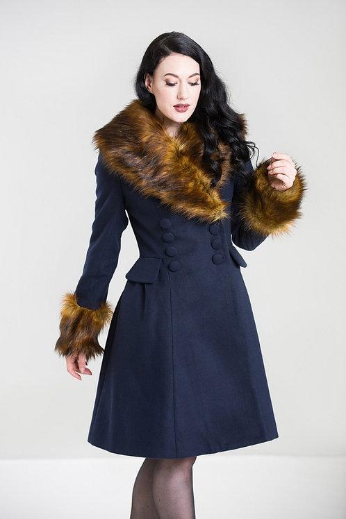 Hell Bunny Navy Roxy Coat