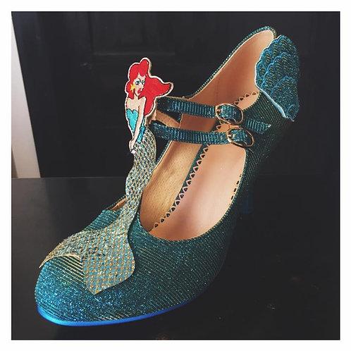 Banned Retro Stella By Starlight Aqua Mermaid Heels