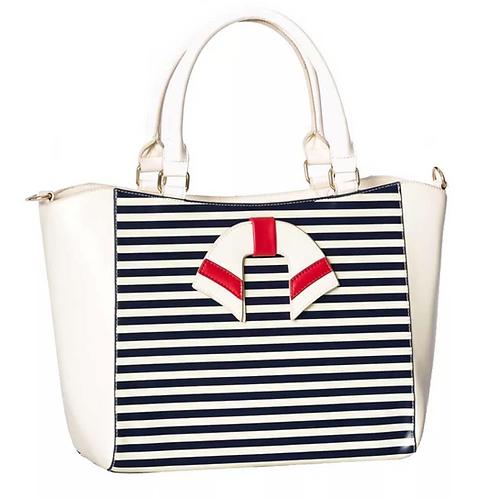 Dancing Days Vintage Nautical Blue/White Bag