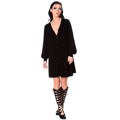Banned Retro Black Magma Cardigan Dress