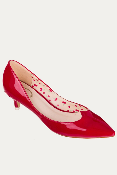 Banned Retro Vilma Red Kitten Heels