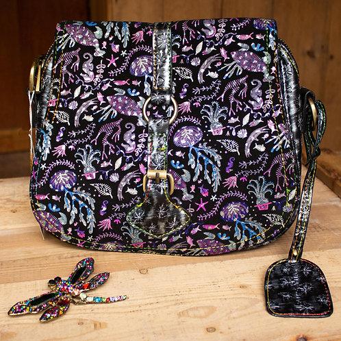 Pearlescent Sea Life Handbag by Laura Vita
