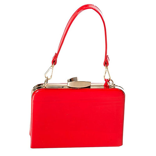Dancing Days Red Mildred Patent Bag