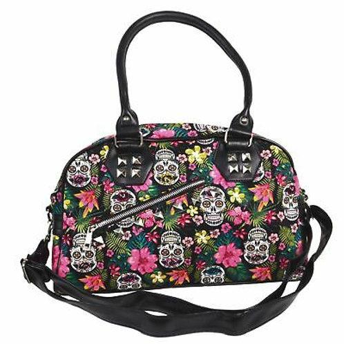Banned Alternative Hibiscus Sugar Skull Handbag